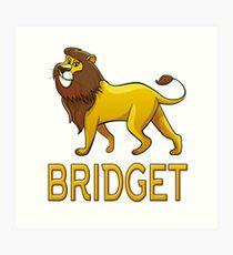 Bridget Lion Drawstring Bags Art Print