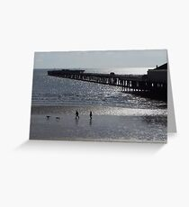 Walton-on-the-Naze Pier - A Silhouette Greeting Card