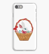 Easter Bunny in Basket iPhone Case/Skin