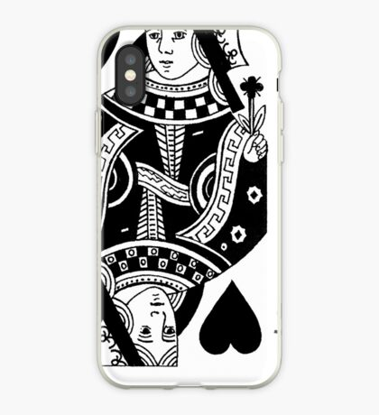 queen of black hearts iPhone Case