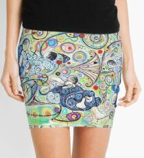 Let's Roll - Jiu-Jitsu - Bjj Art - Painting By Kim Dean Mini Skirt