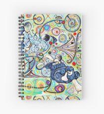Let's Roll - Jiu-Jitsu - Bjj Art - Painting By Kim Dean Spiral Notebook