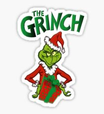 the grinch who stole christmas grinch costume shirt Sticker