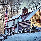 1700's Log House in West Chester, Pennsylvania by Polly Peacock