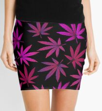 Lilac marijuana Mini Skirt