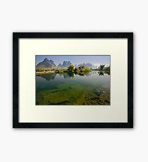 Yu Long River, YangZhuo, Guangxi, China Framed Print