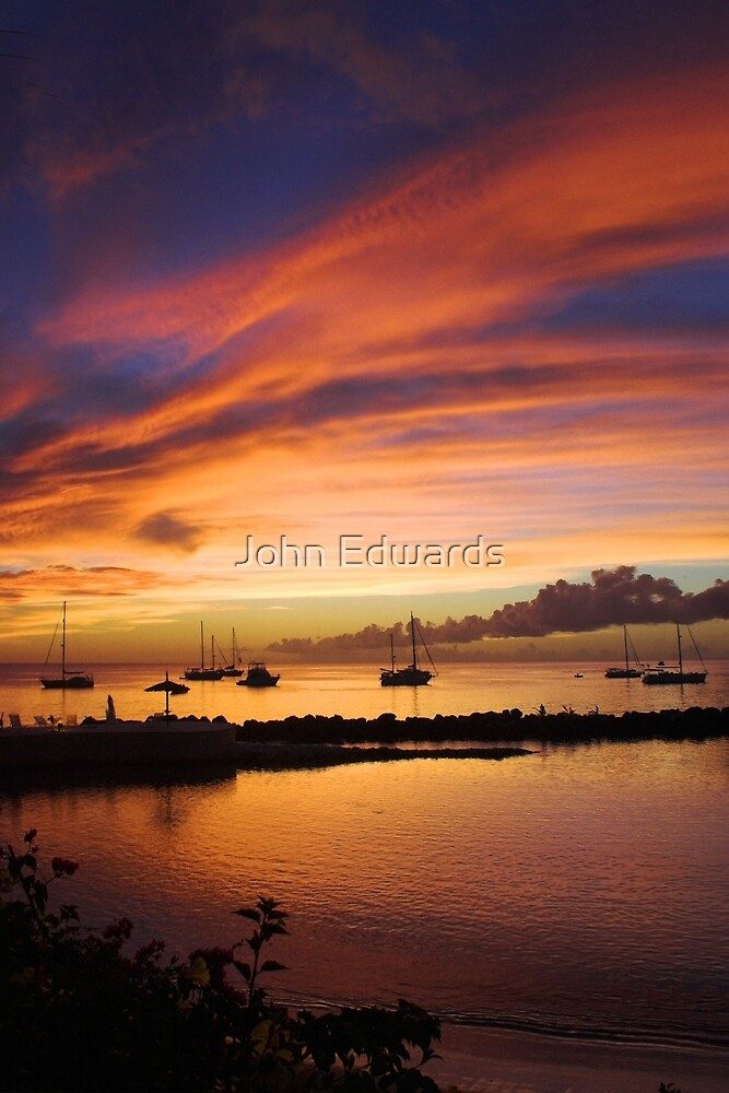 Sunset, Store Bay by John Edwards