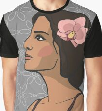 Swarthy girl with flower Graphic T-Shirt