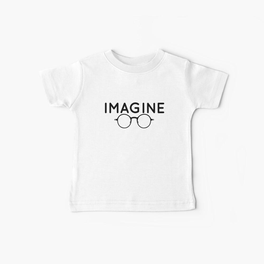 Stellen Sie sich vor, runde Brille, Brille, Frieden, Hippie, Pazifismus, wählen Sie Frieden Baby T-Shirt