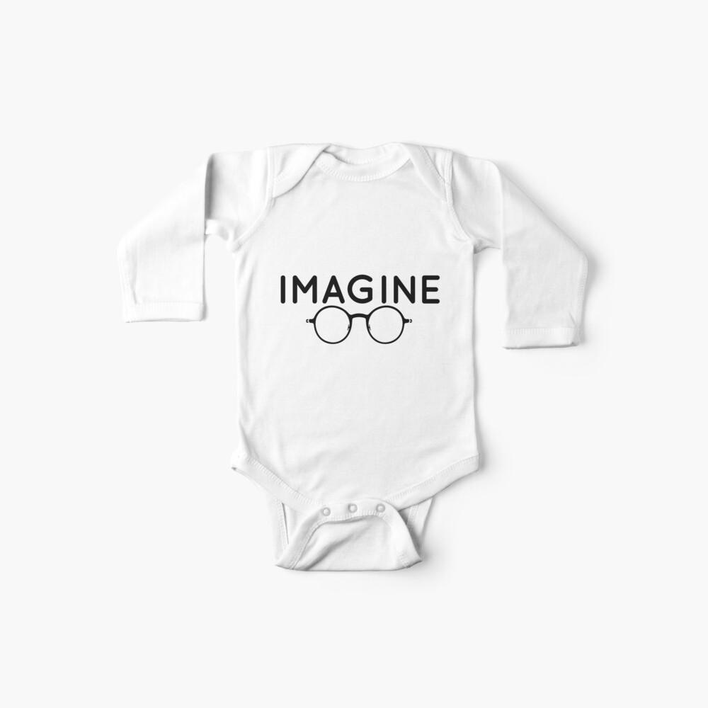 Stellen Sie sich vor, runde Brille, Brille, Frieden, Hippie, Pazifismus, wählen Sie Frieden Baby Bodys