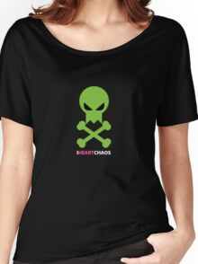 I Heart Chaos Skull Tee Women's Relaxed Fit T-Shirt