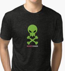 I Heart Chaos Skull Tee Tri-blend T-Shirt