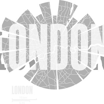 London map by UrbanizedShirts