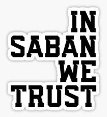 Pegatina En Saban confiamos