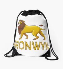 Bronwyn Lion Drawstring Bags Drawstring Bag