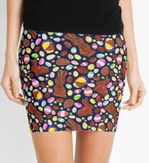Easter Egg Bounty - Navy Mini Skirt