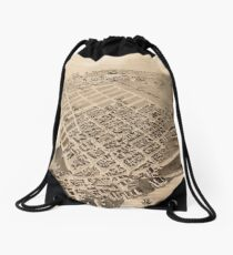 Vintage Pictorial Map of East Cambridge MA (1879) Drawstring Bag