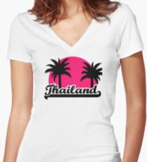 Thailand Women's Fitted V-Neck T-Shirt
