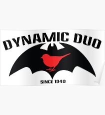 Batman and Robin dynamic duo Poster