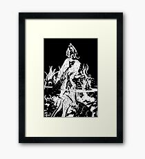 Hellboy in the Abyss Framed Print