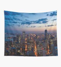 Chicago Nacht Skyline Wandbehang