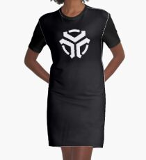 Vergeron Logo Black Graphic T-Shirt Dress