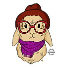 Hipster Bunny by AthenaVictoria