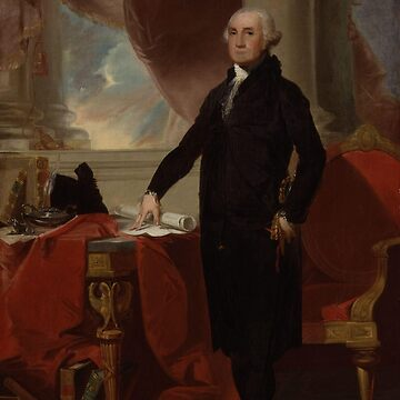 George Washington Gilbert Stuart oil painting no text by DeplorableLib