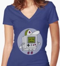 Happy Gameboy Women's Fitted V-Neck T-Shirt
