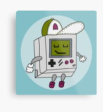 Happy Gameboy Metal Print