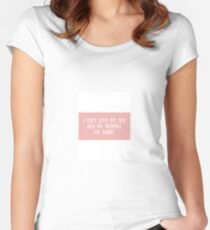 Drake Lyrics Sticker Women's Fitted Scoop T-Shirt