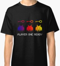 Player One Ready Shirt - Funny Video Gamer Shirt Gift Novelty Classic T-Shirt