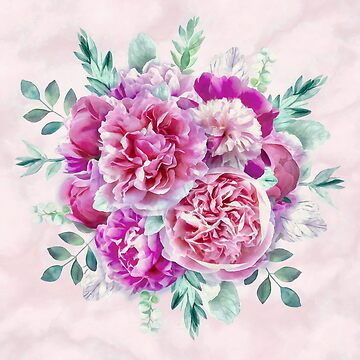 Beautiful soft pink peonies by CatyArte