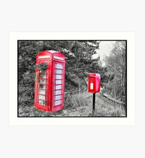 Phone & LetterBox HDR Art Print