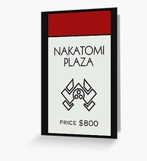 Nakatomi Plaza - Property Card Greeting Card