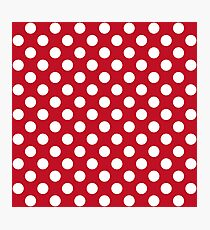 Red And White Polka Dots Photographic Print