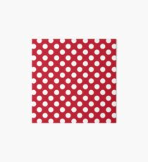 Red And White Polka Dots Art Board