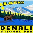 Denali National Park Alaska Mountains Bear by MyHandmadeSigns