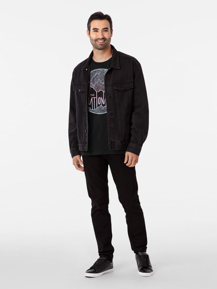 Alternative Ansicht von Die nationale Linie Kunst Premium T-Shirt