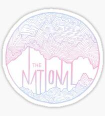 The National line art Sticker