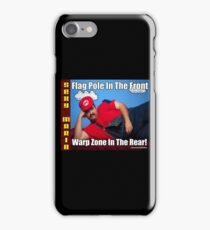 SexyMario MEME - Flag Pole In The Front, Warp Zone In The Rear! 2 iPhone Case/Skin