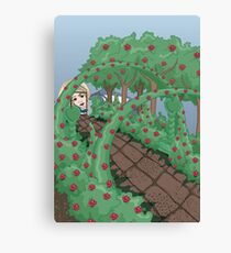 Alice Looking in the Garden Canvas Print