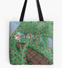 Alice Looking in the Garden Tote Bag