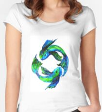 'Koi' Antics Women's Fitted Scoop T-Shirt