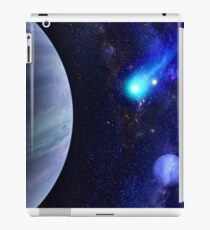 Photorealistic Galaxy background with planet  iPad Case/Skin