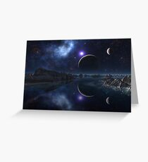 The Sun and the Moon and the Stars Greeting Card
