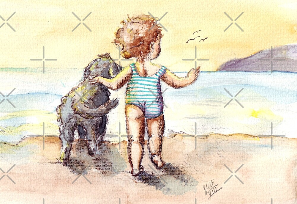 Sally and Spike by Sarah  Mac Illustration