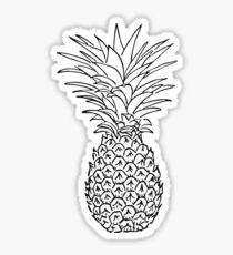 Cute Black and White Pineapple Sticker