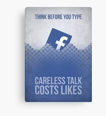 Facebook Propaganda Poster Canvas Print