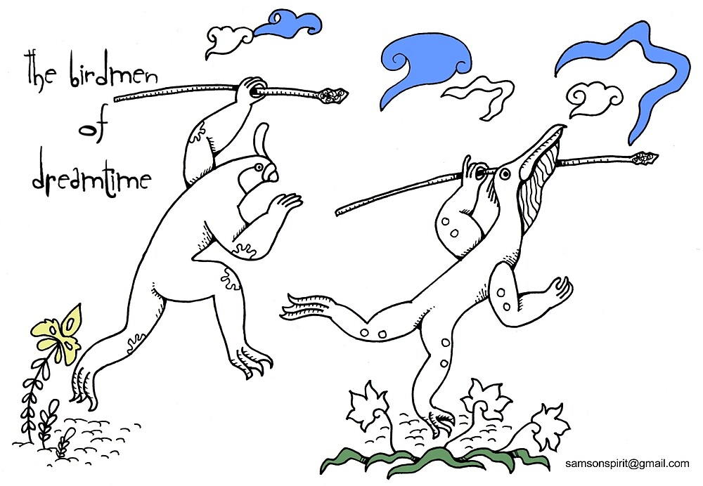 Birdmen of Dreamtime by SamsonSpirit